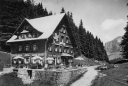 Berggasthaus Plattenbödeli im Jahr 1930