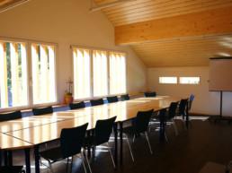 Seminarraum im Berggasthaus Plattenbödeli